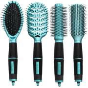 Hair Brush Kit 4 set - Salon Professional - turquesa