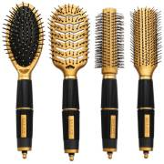 Hair Brush Kit 4 set - Salon Professional - Gold