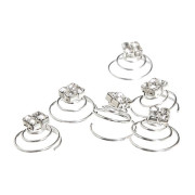 Hair Spinners - Crystal diamonds - 6 pcs