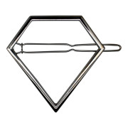 SOHO® Pyramid Metal Hair Clip -  Silver