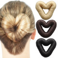 8 cm Love Heart Hair Donut - pelo falso