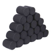 Sleep in Velcro Hårcurlers 10 pcs - Black