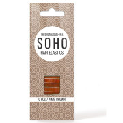 SOHO® Snag-Free Hair Elastics, Brown - 10 pcs