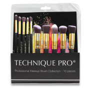 Technique PRO® Makeupbørster, Gold edition - 10 stk
