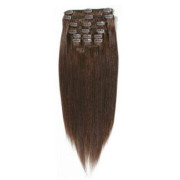 Extensiones de Clip 65cm Marrón Chocolate #4